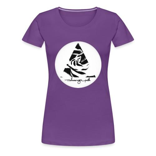 Flowering Youth Black and White - Women's Premium T-Shirt