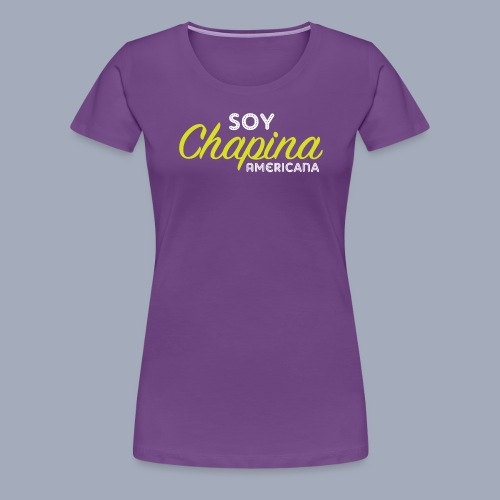 Soy Chapina Americana – green - Women's Premium T-Shirt
