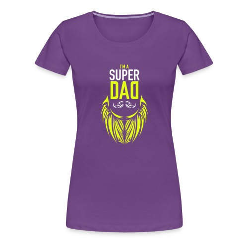 I am a super dad t shirt birthday gift father and - Women's Premium T-Shirt