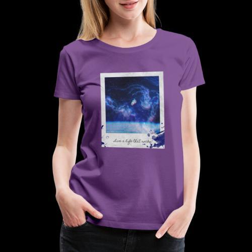 Polaroid Spaceman - Women's Premium T-Shirt