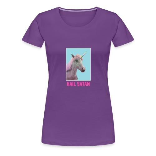 Satanic Unicorn - Women's Premium T-Shirt