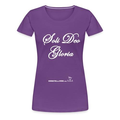 Soli Deo Gloria - T-shirt premium pour femmes