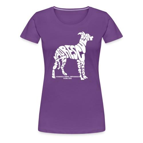Words Dog White png - Women's Premium T-Shirt