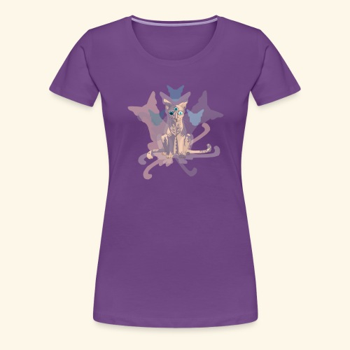 Feline of Obscure Symmetry - Women's Premium T-Shirt