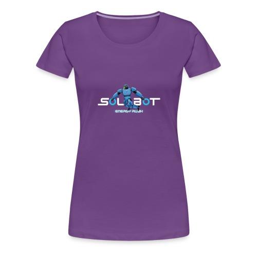 Solbot White Text - Women's Premium T-Shirt