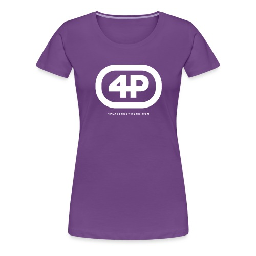 Retro Logo White - Women's Premium T-Shirt