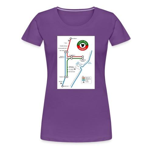 Craft Beer Lines Hobart - Women's Premium T-Shirt