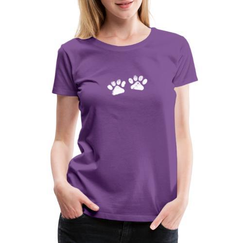 Two White Paws - Dog Lovers - Women's Premium T-Shirt