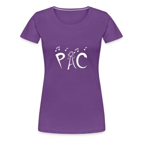 PAC Logo White - Women's Premium T-Shirt