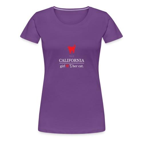 This girl love her cat T-Shirt - Women's Premium T-Shirt