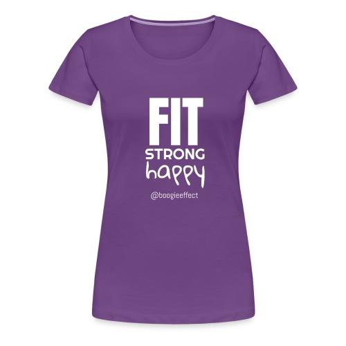 fit strong happy white - Women's Premium T-Shirt