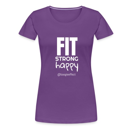 fit strong happy white - Women's Premium T-Shirt