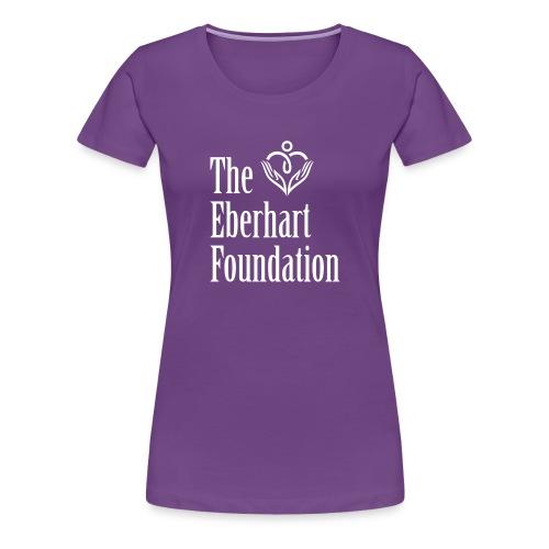The Eberhart Foundation square logo white - Women's Premium T-Shirt