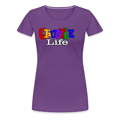 GRUSTLE LIFE LIVING SINGLE - Women's Premium T-Shirt