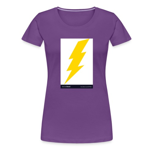 electric lightning bolt vector 15779011 - Women's Premium T-Shirt
