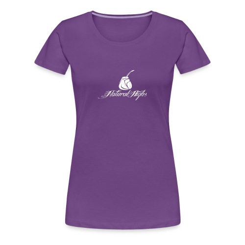 Natural Highs Logo In White - Women's Premium T-Shirt