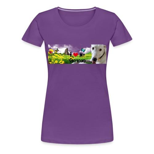 I Love My Greyhound - Women's Premium T-Shirt