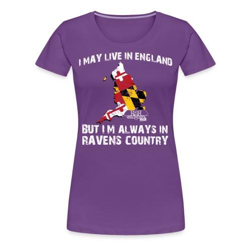 RavensCountryTee England 04 png - Women's Premium T-Shirt