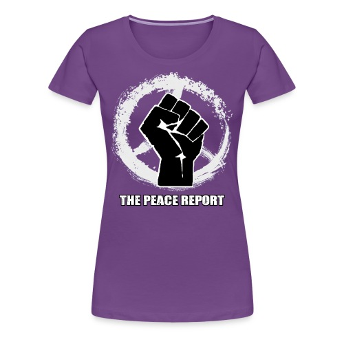 The Peace Report Signature Peace Sign & Fist - Women's Premium T-Shirt