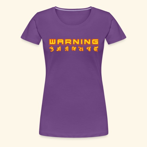 warning_front - Women's Premium T-Shirt