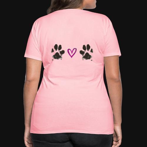 Paw Love black - Women's Premium T-Shirt