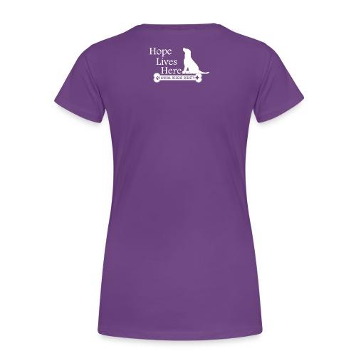 Hope Lives Here Women's Hoodie - Women's Premium T-Shirt