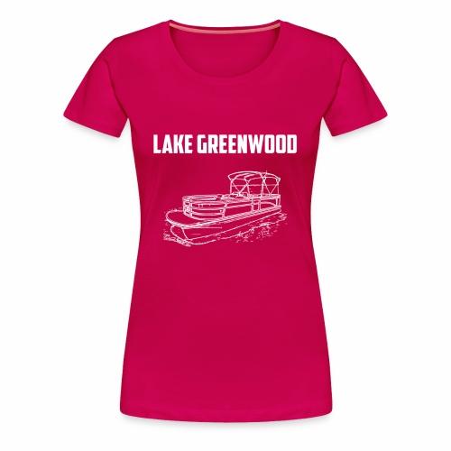 Lake Greenwood South Carolina Pontoon Boat Design - Women's Premium T-Shirt
