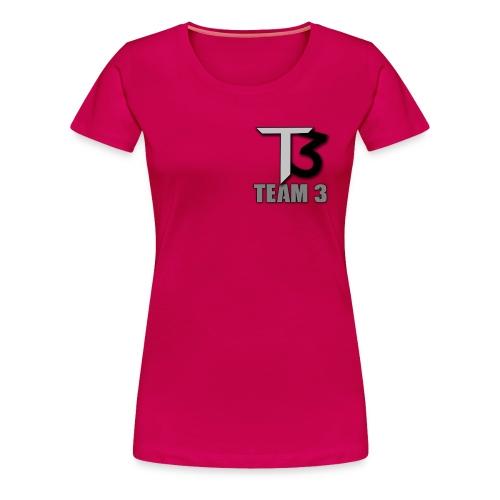 TEAM 3 LOGO - Women's Premium T-Shirt