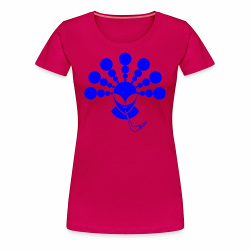 The Smoking Alien - Women's Premium T-Shirt