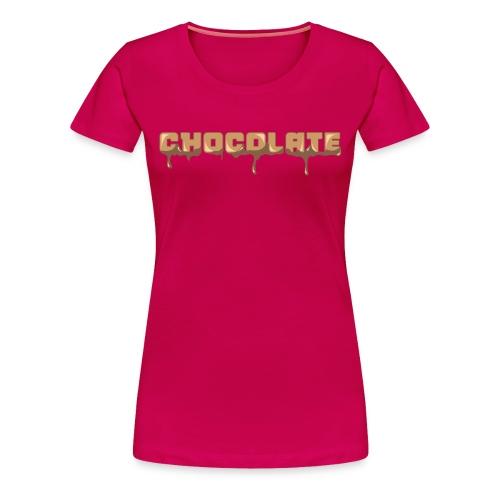 Chocolate Horizontal Font - Women's Premium T-Shirt