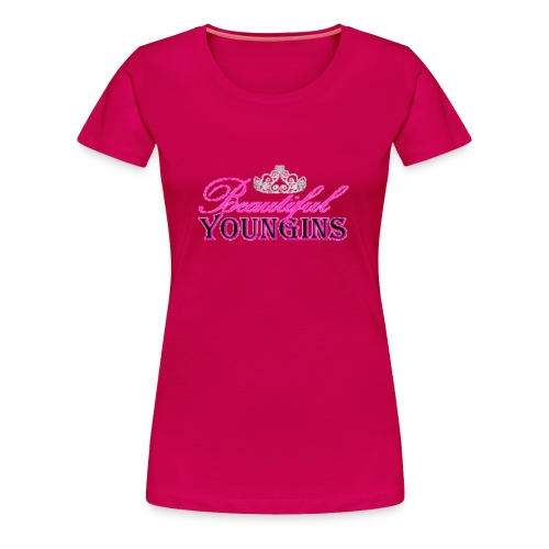 Beautiful Youngins Logo Transparent - Women's Premium T-Shirt
