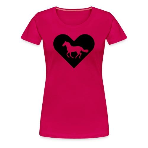 Heart-Horse (black) - Women's Premium T-Shirt