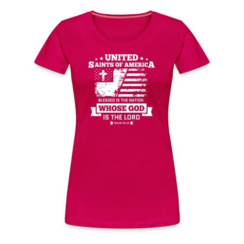 UnitedSaintsOfAmerica DesignHD 1 - Women's Premium T-Shirt