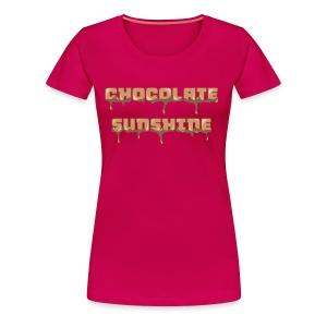 Chocolate Sunshine Horizontal Font - Women's Premium T-Shirt