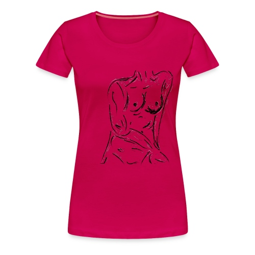 Esquisse - T-shirt premium pour femmes