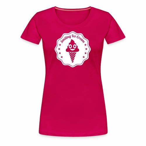 Smiling Ice Cream Batch - Women's Premium T-Shirt