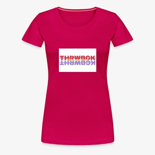 THRWBCK colors tee - Women's Premium T-Shirt