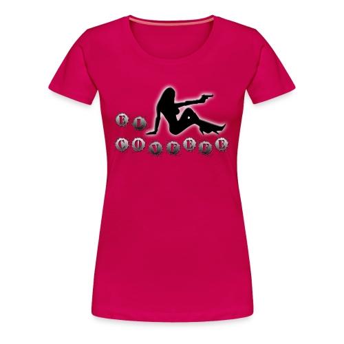El Covfefe Bad Ass Chick in Gun Metal - Women's Premium T-Shirt