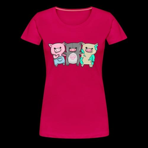 Three Little Pigs I Gift Idea - Women's Premium T-Shirt