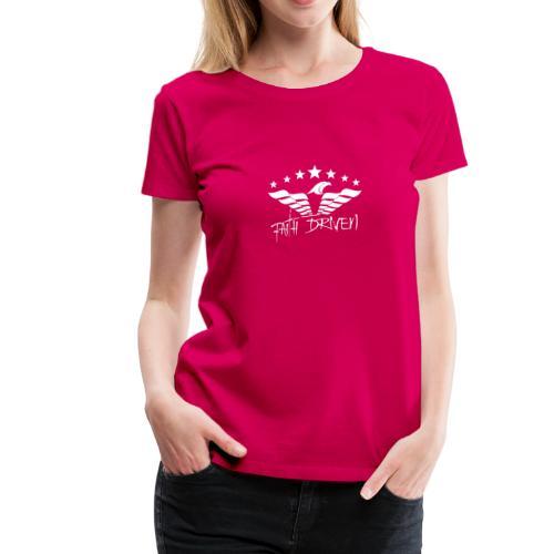 Faith Driven white logo - Women's Premium T-Shirt