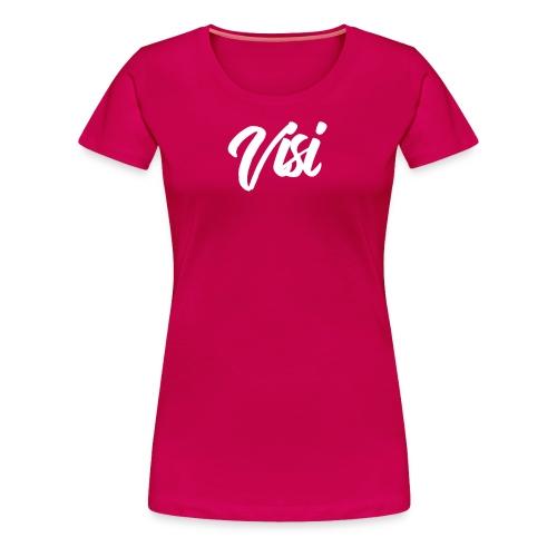 White VISI Text - Women's Premium T-Shirt