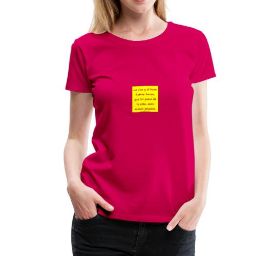 frases lindas risa y buen humor - Women's Premium T-Shirt