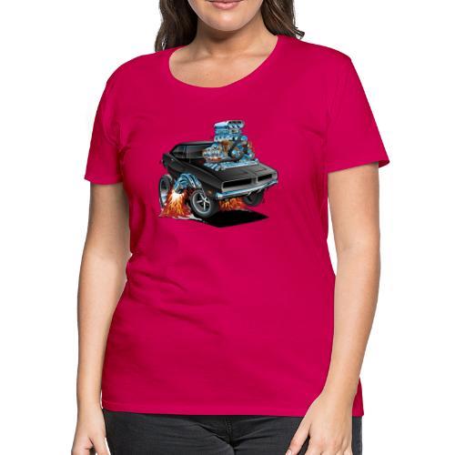 Classic 69 American Muscle Car Cartoon - Women's Premium T-Shirt