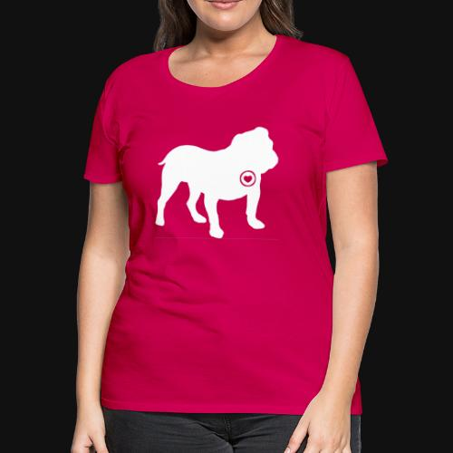 Bulldog love - Women's Premium T-Shirt