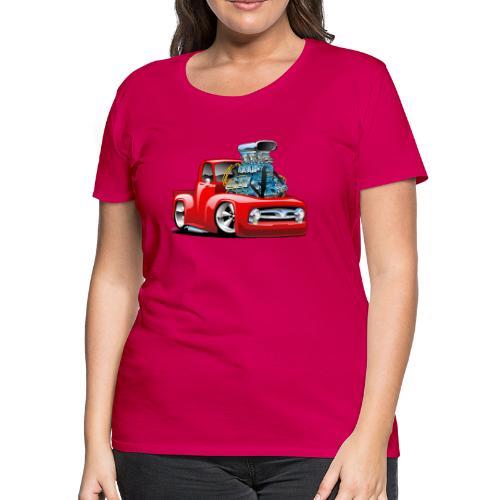 American Classic Hot Rod Pickup Truck Cartoon - Women's Premium T-Shirt