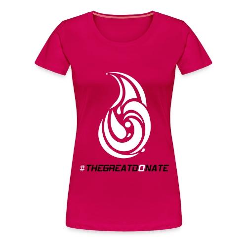 #THEGREATDONATE - Women's Premium T-Shirt
