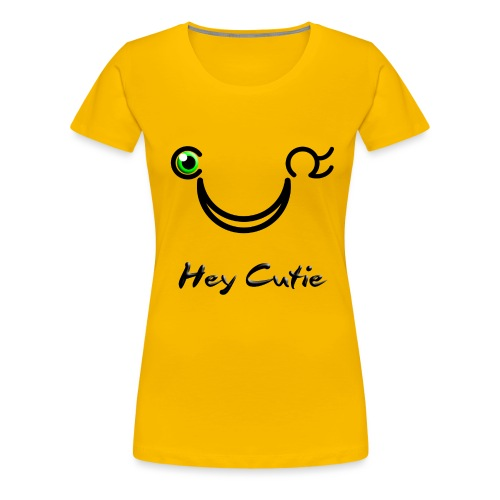 Hey Cutie Green Eye Wink - Women's Premium T-Shirt