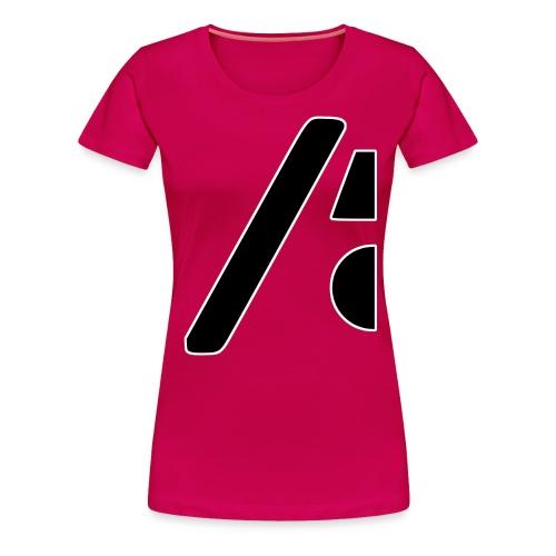 Half the logo, full on style - Women's Premium T-Shirt