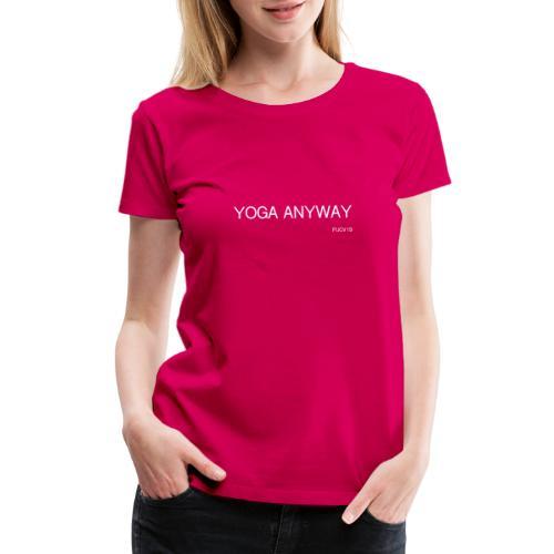 YOGA WHITE font - Women's Premium T-Shirt