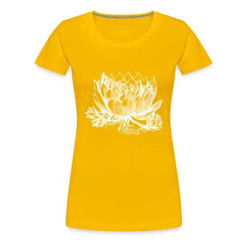 Vintage Artichoke Illustration - Women's Premium T-Shirt